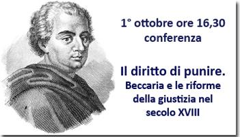 Conferenze sull'opera di Cesare Beccaria