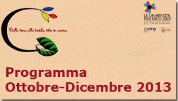 Programma Ottobre-dicembre 2013