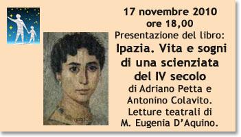 Presentazione del libro: <br />Ipazia. Vita e sogni di una scienziata del IV secolo