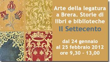 Mostra: Arte della legatura a Brera, il settecento