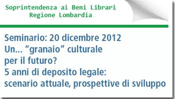 Seminario Regione Lombardia
