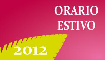 Orario estivo 2012