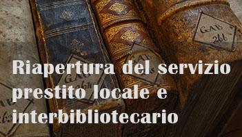 Riapertura del servizio prestito locale e interbibliotecario della Biblioteca Braidense